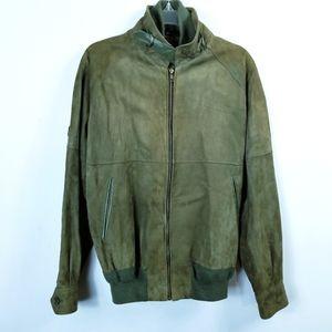 Vintage Bally of Switzerland Mens Green Suede Coat